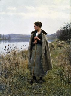 19th century American Paintings: Daniel Ridgway Knight - father of Louis Aston Knight