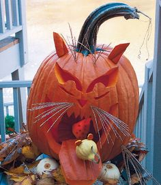 The Halloween season is here. The same old Pumpkin decoration will not be enough to fulfill your excitement. Here are some pumpkin carving ideas that would. Halloween Jack, Spirit Halloween, Holidays Halloween, Halloween Pumpkins, Halloween Crafts, Happy Halloween, Halloween Decorations, Halloween 2017, Halloween Clothes