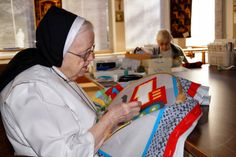 The Sacred Heart Convent Quilting Group (Sr. Janet, Sr. Edwina and Sr. Helen) make quilts that go to the St. Dominic Hospital in Jackson, MS.