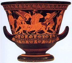Cerámica griega con figuras rojas - Cráteras periodo Arcáico. S.VI ...