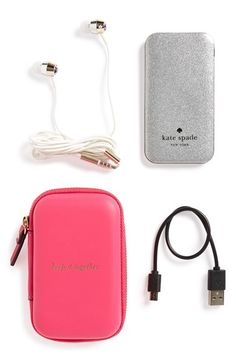 040d33cb0a Free shipping and returns on kate spade new york glitter ear buds  amp   portable charger
