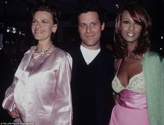 Celebrity magnet: Fans like Sandra Bernhard (left) and Iman (right) flocked to Isaac's shows