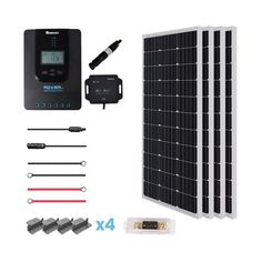 You'll never have to worry about access to energy on the road with the Renogy 600 Watt 24 Volt Eclipse Solar Panel Premium Kit. This kit includes the new Eclipse Solar Panel which is not only sleek Off Grid Solar Panels, Solar Energy Panels, Best Solar Panels, Solar Roof Tiles, Solar Panel Kits, Solar Projects, Panel Systems, Solar Energy System, Home Depot