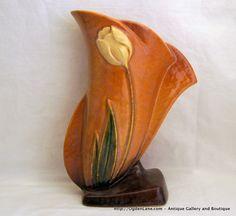 Roseville Wincraft Tulip Vase 2828 by ogdenlane on Etsy, $110.00