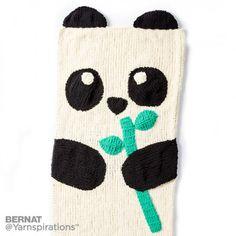 Knit Panda Bear Snuggle Sack