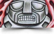 pre columbian totem tattoo Stone Totem Tattoo
