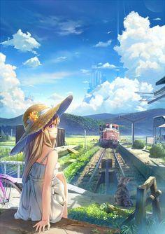 Anime summer girl