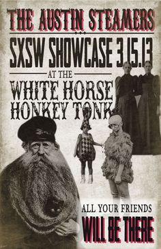 Austin Steamers Event Poster via Behance