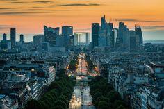 La Ville-Lumière (Sunset Behind La Defense)