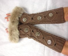 Arm Warmers Armwarmer knit Fingerless Gloves by MyArtAndFashion, $32.99