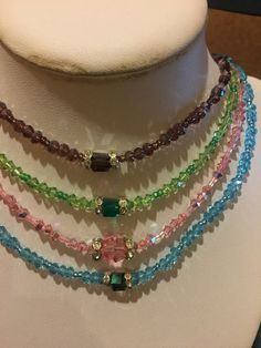 Swarovski necklaces for all occasions  by Rosariesaccessories