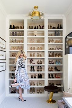 So excited to share my closet space with you! This wall is one my favorite spots…