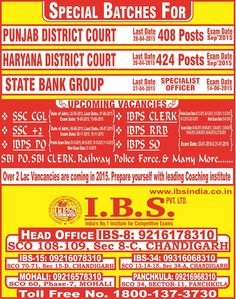Join IBS SSC Coaching Institute in Chandigarh, where one can achieve his/her own goal.  http://ibsindia.co.in
