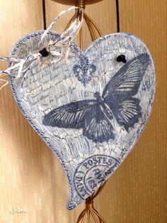 Декупаж деревянного сердца