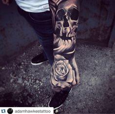 Awesome work by resident artist Adam Hawkes!    #tattoo #tattooart #tattooist…