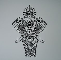 Indian Elephant Mandala Wall Sticker Asian Home Interior Ethnic Yoga Pattern Vinyl Decal Peaceful Ornament India Culture Mural