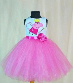 985283107a68 Beautifull Peppa Pig Tulle Dress Peppa Pig от SugarShopDress Piñata Peppa,  Fiestas Peppa Pig,