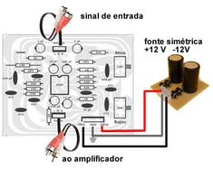 diagrama-ligacaos-pre-amplificador-g Circuit Diagram, Roses, Printed Circuit Board, Printed Circuit Board, Audio Amplifier, Electronic Schematics, Electronic Circuit, Audio, Simple