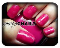 Pink Polka Dots Challenge.  http://gnarlygnails.blogspot.com/