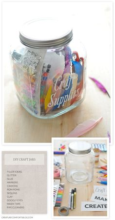 DIY Customized Gift Jars with Free Templates | Creature Comforts