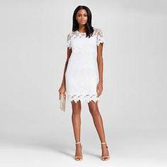 d0685d32c8fa Women's Illusion Hem Lace Sheath Dress - Allen B : Target Shower Dresses,  Bridesmaid Dresses