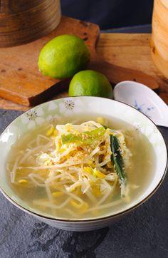 Korean Bean Sprout Soup Recipe (Kongnamul Gook) Korean bean sprout soup Related posts: fresh Korean bean sprout salad Korean Food: Mung Bean Sprout Side-dish [trying this today…] -… [Korean Food] Jjajang myeon(black bean sauce noodle) Korean Bean Sprout Soup Recipe, Bean Sprout Recipes, Veggie Recipes, Healthy Recipes, Bean Sprout Salad, Healthy Soups, Yummy Recipes, Healthy Food, Recipies