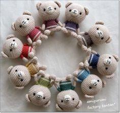 Pierott Yarns 2013 ~ Summer ~ Pierrot Yarns Contest : Project information「くまのあみぐるみ」 Crochet Teddy Bear Pattern, Crochet Animal Amigurumi, Crochet Bear, Love Crochet, Bead Crochet, Amigurumi Patterns, Diy Crochet, Crochet Dolls, Knitting Patterns Uk