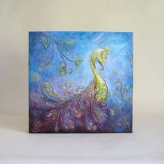 Grace  Original Abstract Textured Painting on Canvas by ChingTeoh