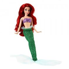 The Disney Princess Classic Ariel doll is part of Disney Store's exclusive line of 12-inch classic collection of Disney Princess dolls.