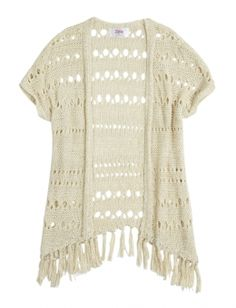 Shop Fringed Crochet Kimono and other trendy girls {CATEGORY} {PARENT_CATEGORY} at Justice. Find the cutest girls {PARENT_CATEGORY} to make a statement today.