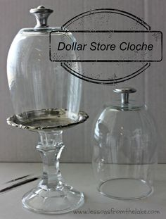 dollar store crafts, DIY cloche