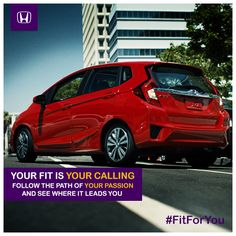 Your fit is your calling. Follow the path of your passion and see where it leads you. #FitForYou
