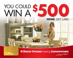 Win A House, Home Hardware, Home Gifts, Running, Cards, Home Decor, Racing, Homemade Home Decor, Keep Running