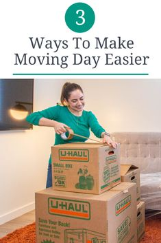 Is moving day months, maybe even days, away? Click through to learn a few tricks to make the big day more efficient. Moving Day, Get Moving, Save Yourself, Work On Yourself, Appliance Dolly, Moving Truck Rental, U Haul Truck, Create A Timeline, Service Program