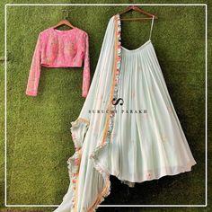 20 Latest Suruchi Parakh Lehengas For Budget Brides - Indian Gowns Dresses, Indian Fashion Dresses, Indian Designer Outfits, Girls Fashion Clothes, Indian Designers, Woman Clothing, Designer Clothing, Pakistani Dresses, Kids Clothing