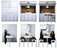 Compact All-in-One Furniture Design for Kitchen Dining