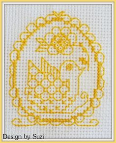 Lesley Teare - Easter Eggs Cards #crossstitch #lesleyteare #easter