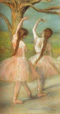 Edgar Degas, Dancers in Pink (Pastel on Paper) Fine Art Reproduction Oil Painting Edgar Degas, Ballet Painting, Ballet Art, Post Impressionism, Impressionist Art, Monet, Degas Dancers, Ballet Dancers, Degas Ballerina