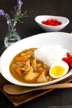 Delicious JapaneseChicken Curry recipe for a weeknight dinner! Tender pieces of chicken, carrots, and potatoes cooked in a rich savory currysauce, this Japanese version of curry is a must-keep for your family meal.#japanesecurry #chickencurry | Easy Japanese Recipes at JustOneCookbook.com