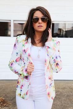 Floral Chic Blazer