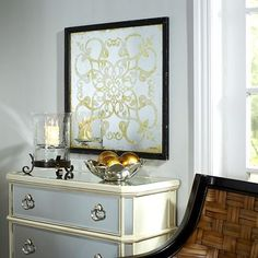 Silver Etched Wall Decor