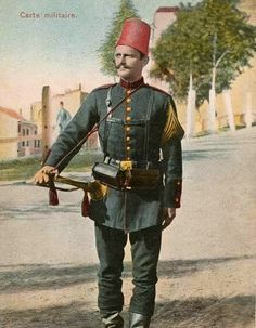 Late-Ottoman soldier (bugler). End of 19th century.