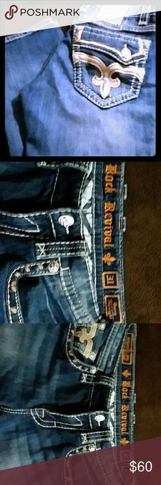 Mens Rock Revival Jeans. Size 31 Rock Revival Jeans  mens size 31 Darry Straight Rock Revival Jeans Straight