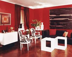 Decorating with Red - Red Interior Design and Home Decor - ELLE DECOR