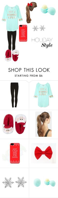 """""""Christmas Day"""" by i-found-wonderland ❤ liked on Polyvore featuring VILA, Victoria's Secret PINK, France Luxe, Samsung, Van Cleef & Arpels and Eos"""