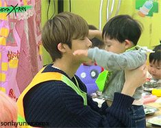 Hyungwon and baby