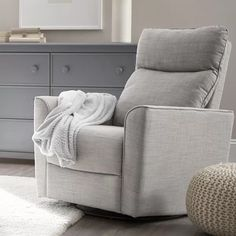 Karla Dubois Soho Glider and Ottoman Furniture, Nursery Recliner, Swivel Glider, Convertible Crib, Adjustable Mattress, Upholstery, Glider And Ottoman, Rocker Chairs, Rocker Recliners