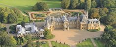 Aerial View of Waddesdon Manor. One of my absolute favourite English estates. The house is breathtaking, the art collection is awesome and the grounds are beautiful.