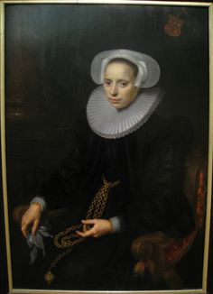 Paulus Moreelse (1571–1638)   A Portrait of Cornelia Bruynseels  1638    ...real...