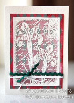 Inky Irises Collage Stamp Project Ideas